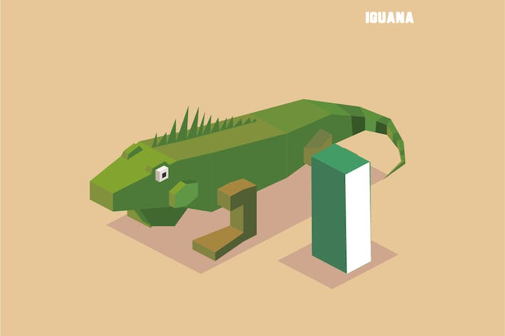 Thumbnail for I for iguana. Animal Alphabet