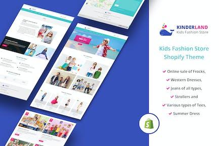 Kinder land - Магазин детской моды Shopify Тема