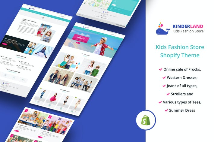 Thumbnail for Kinder land - Kids Fashion Store Shopify Theme