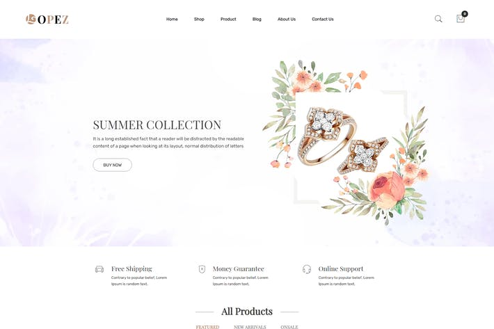 Thumbnail for López — Jewelry Shopify Tema