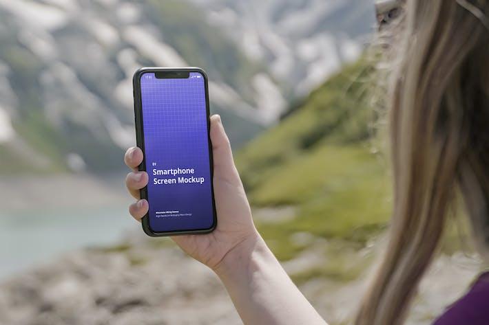 Thumbnail for Phone Mockup Mountain Hiking Scenes