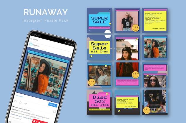 Runaway - Instagram Puzzle Template