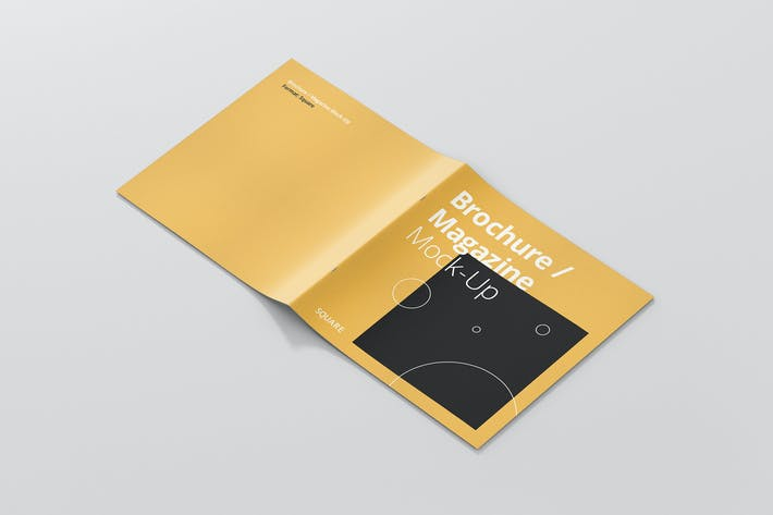 Cover Image For Square Brochure / Magazine Mock-Up