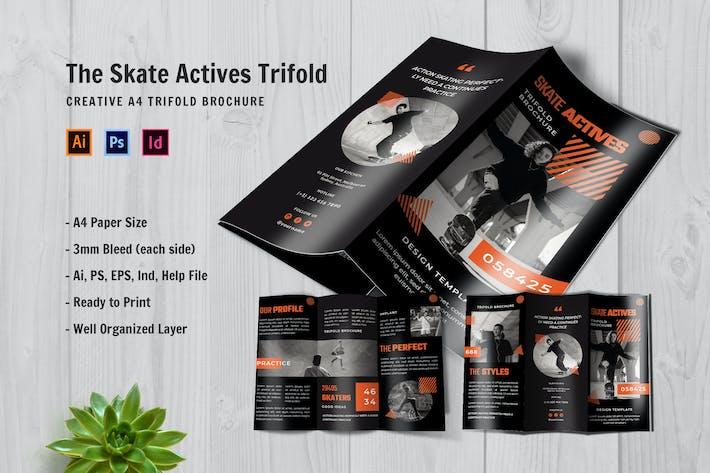 Skate Actives Trifold Brochure