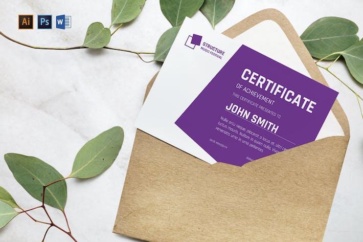 Music Festival Gift Certificate