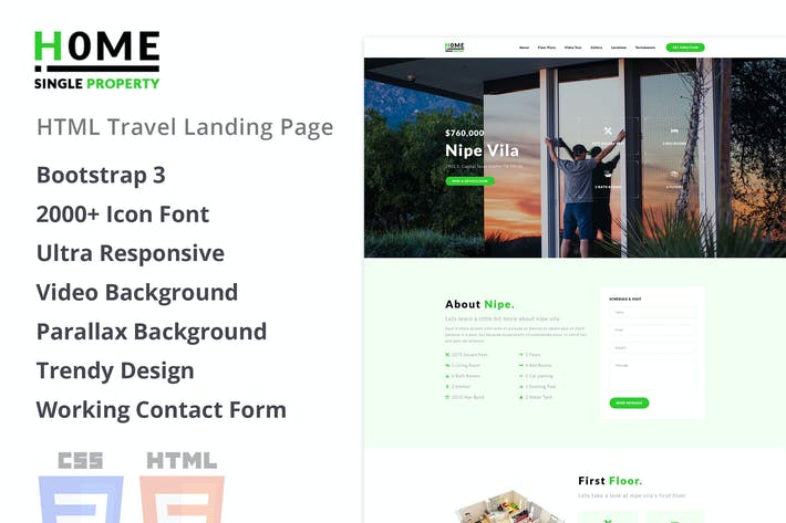 Home - Single Property HTML Template