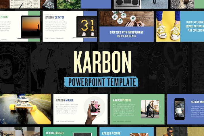 Thumbnail for Karbon — Powerpoint Presentation Template