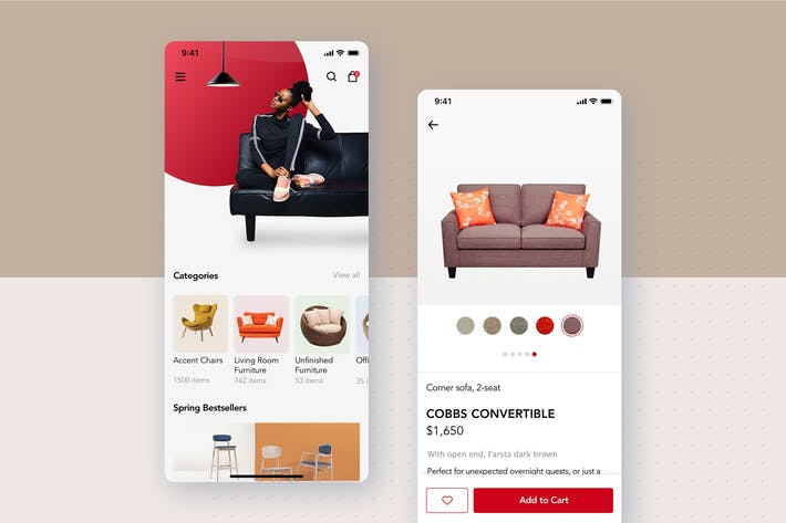 Thumbnail for Furniture - Ecommerce App UI