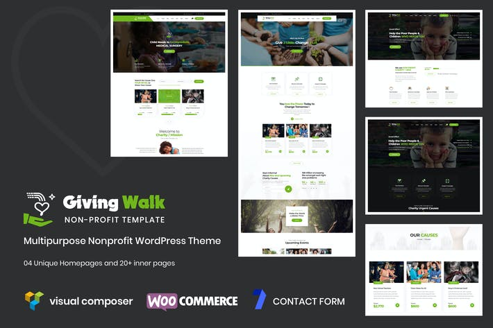 Cover Image For GivingWalk – Multipurpose Nonprofit WP Theme