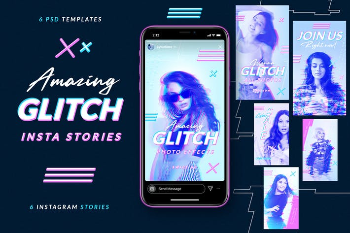 Thumbnail for Glitch Instagram Stories