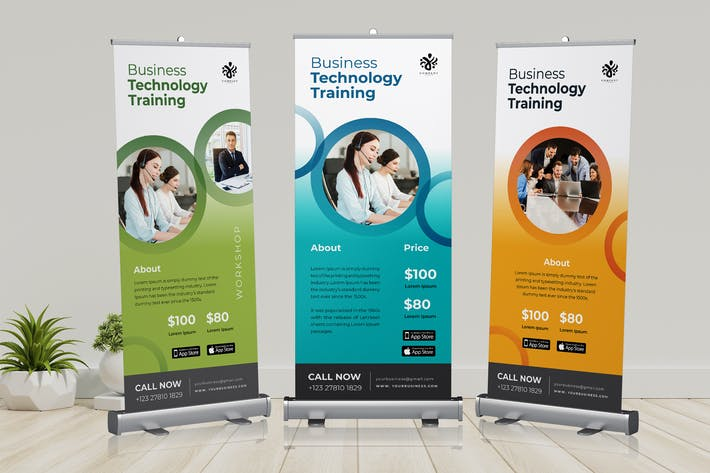 Thumbnail for Roll Up Banner Business Training Promotion