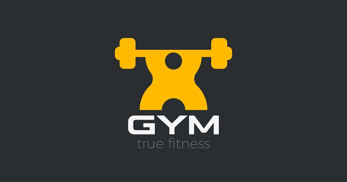 Logo GYM Powerlifting Bodybuilding Fitness Sport by Sentavio