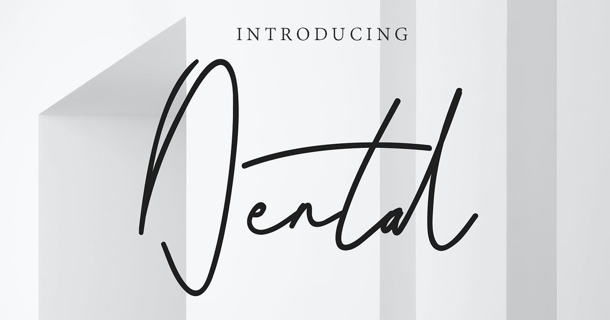 Download Dental Signature Font by arendxstudio