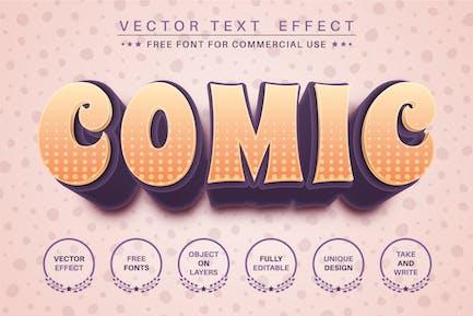 3D comic - editable text effect, font style