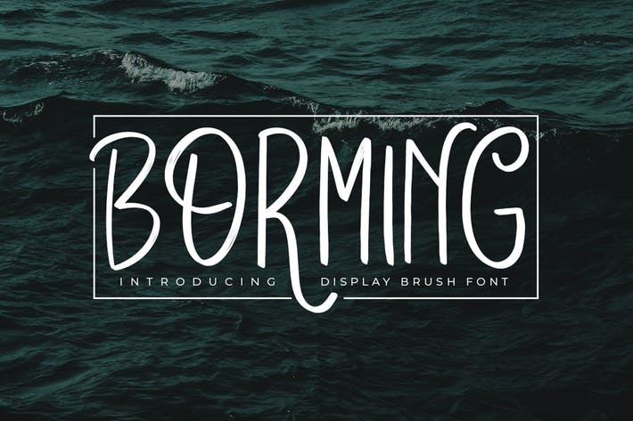 Cover Image For Borming Typeface