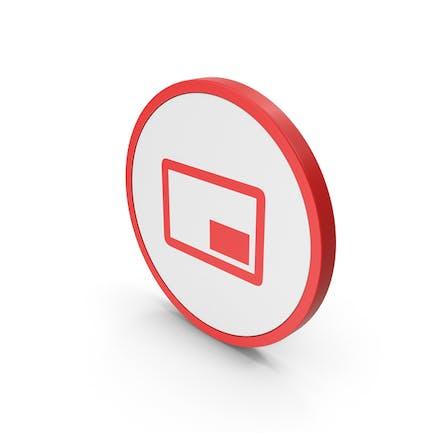 Icon Mini Player Red