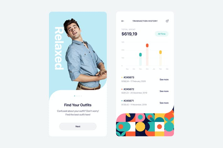 Cover Image For Outfitr App UI Concept