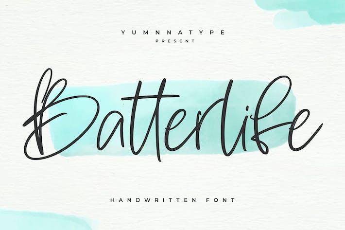 Thumbnail for Batterlife-Lovely Handwritten Font