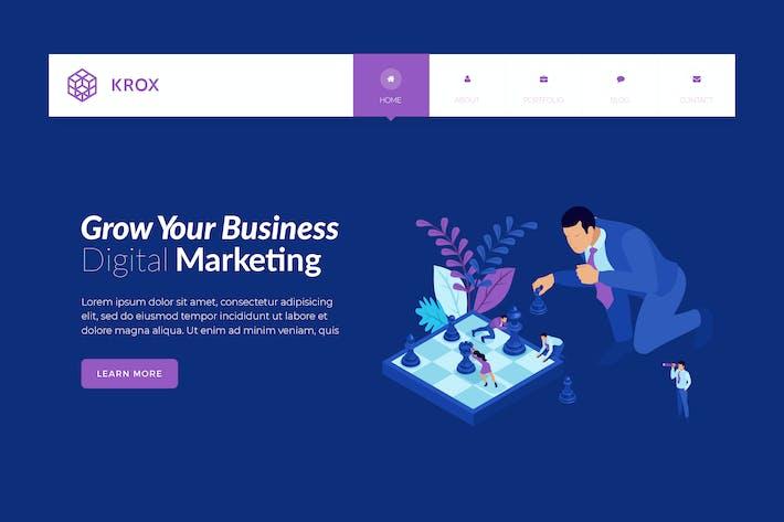 Thumbnail for Krox - Mobile App Development Banner