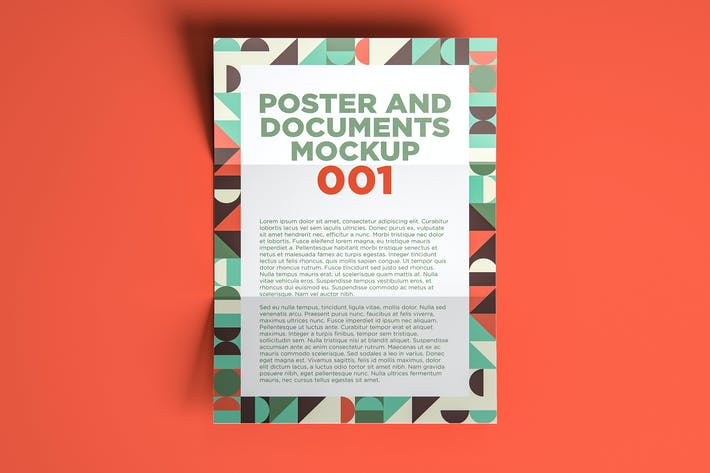 Thumbnail for Poster And Documents Mockup 001