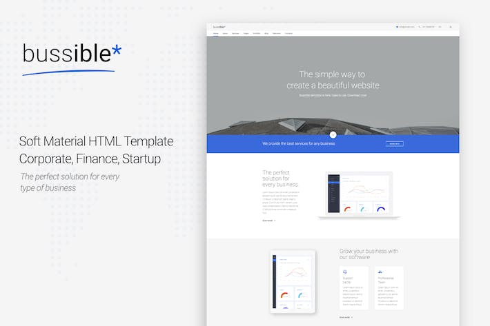 Thumbnail for Bussible - Corporate, Finance, Startup Template