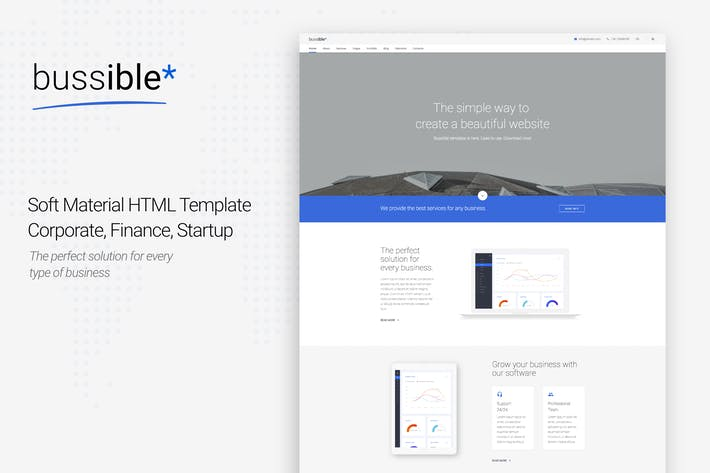 Cover Image For Bussible - Corporate, Finance, Startup Template