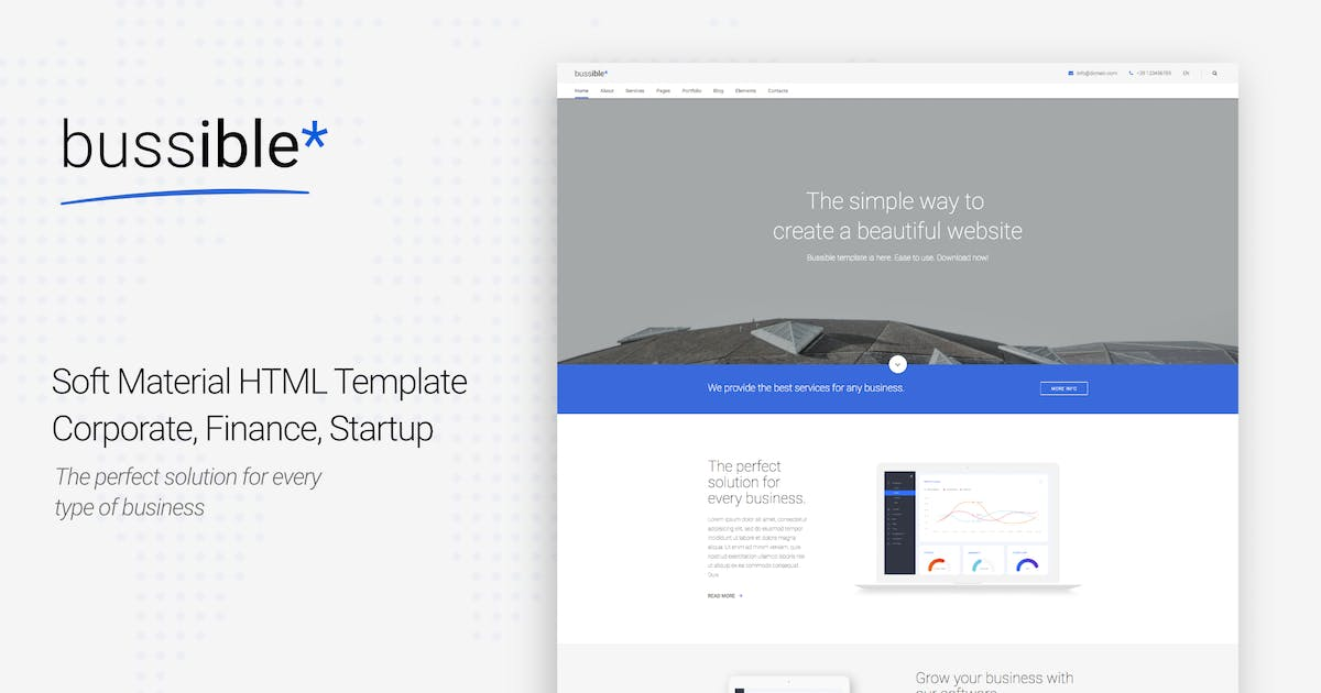 Download Bussible - Corporate, Finance, Startup Template by puredesignThemes