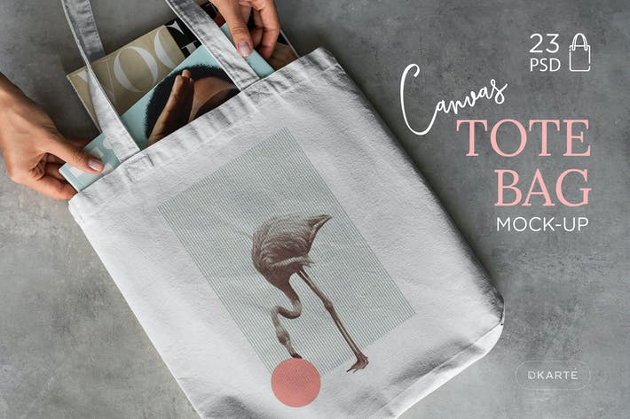 Thumbnail for Canvas Tote Bag Mock-Up Lifestyle