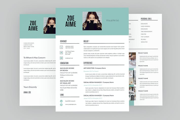 Visual Artist Resume Designer