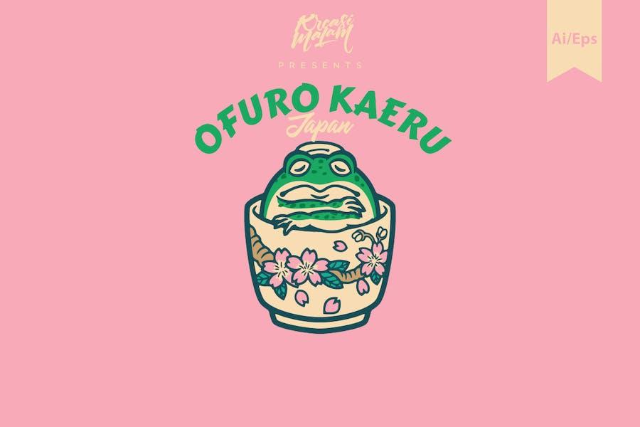 Ofuro Kaeru Logo Template