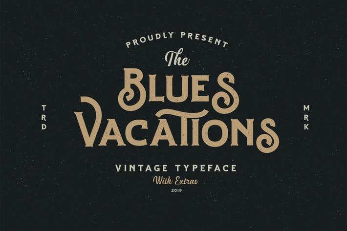 Thumbnail for Blues Vacation Typeface