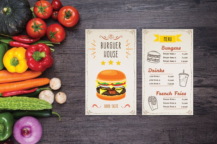 Thumbnail for Burger House Food Menu