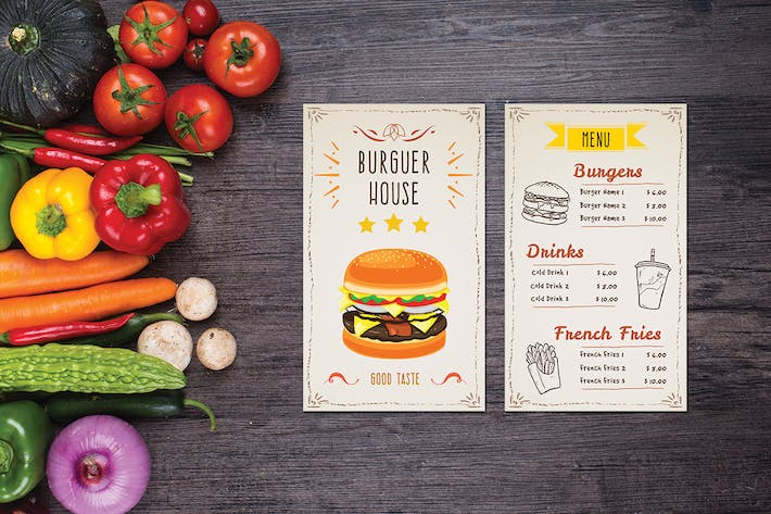 Cover Image For Burger House Food Menu