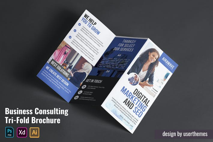 Thumbnail for Business Consulting Tri-Fold Brochure