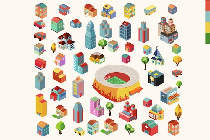 Thumbnail for Красочный вектор изометрический город