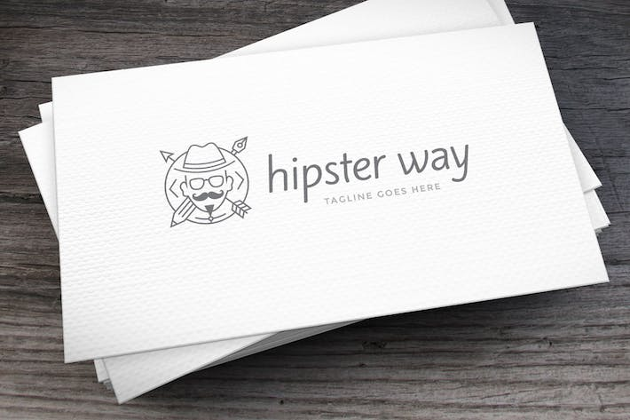Thumbnail for Hipster Way Logo Template