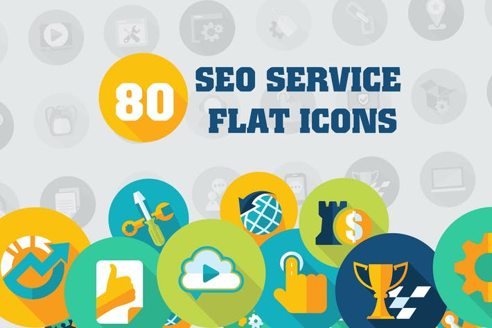 Thumbnail for Flat SEO Services Icons