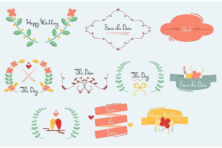 Wedding Ornament Illustration Set