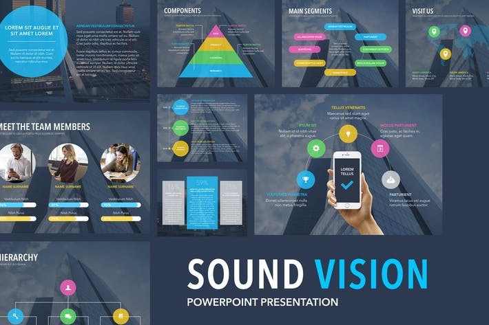 Thumbnail for Шаблон Sound Vision PowerPoint