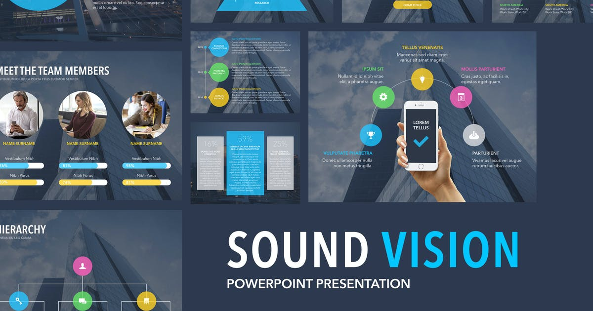Download Sound Vision PowerPoint Template by Unknow
