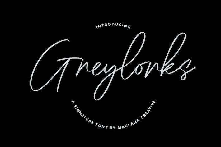 Greylorks Signature Font