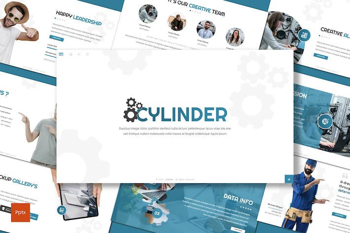 Thumbnail for Cylinder - Business Powerpoint Template