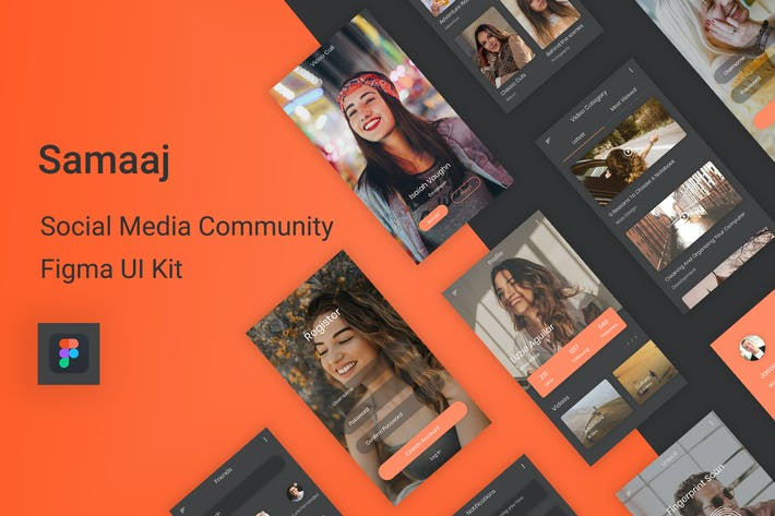 Thumbnail for Samaaj - Social Media Community Figma UI Kit