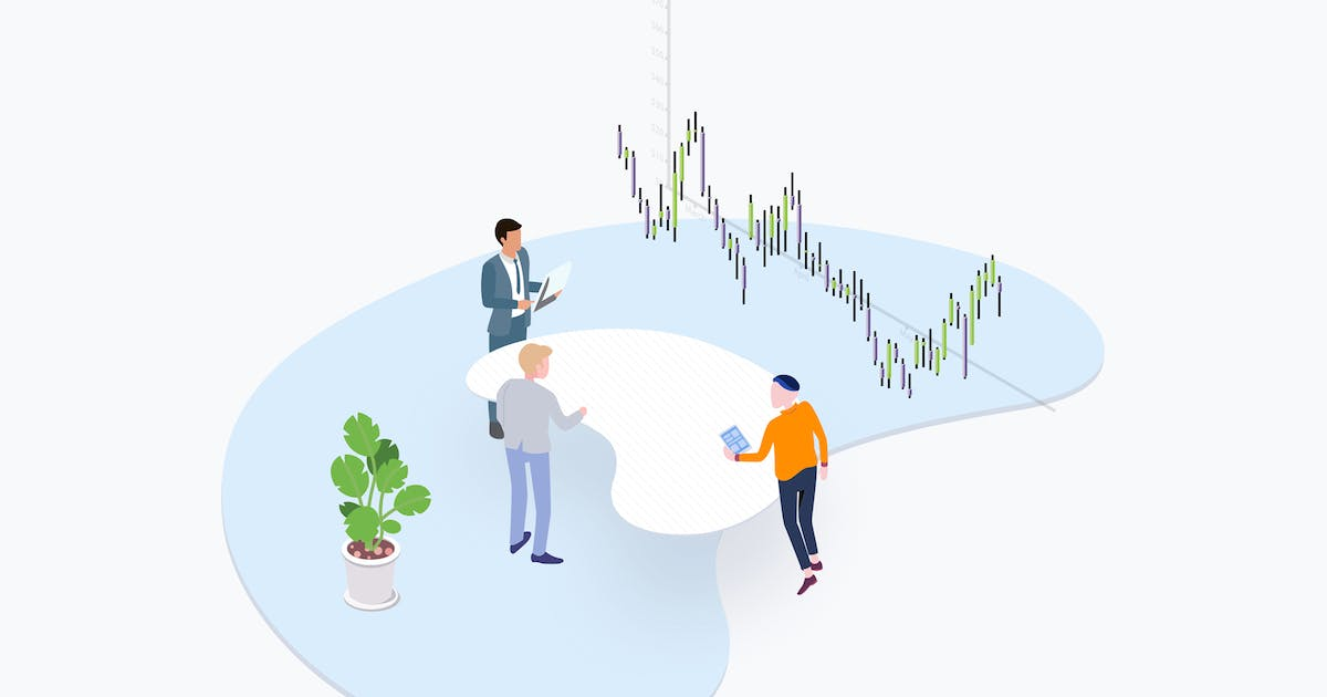 Download Trade Coin Team Isometric Illustration by angelbi88