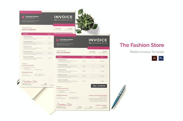 Thumbnail for Rechnung für Modegeschäft