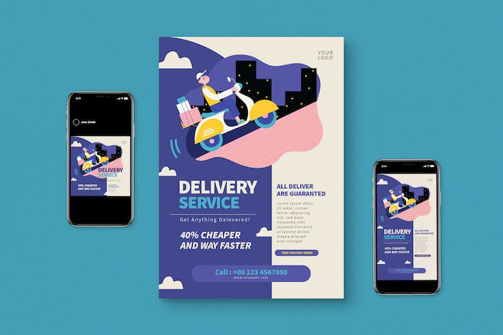 Thumbnail for Delivery Service Flyer Pack