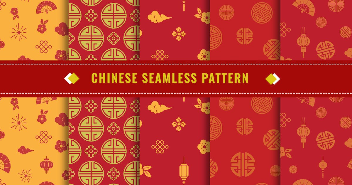 Download Chinese Seamless Pattern Vector v3 by nanoagency