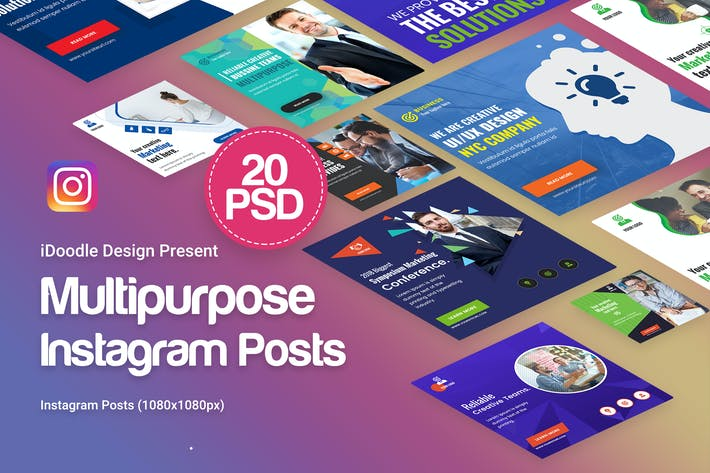 Cover Image For Creative Multipurpose Posts Instagram Ad - 20PSD