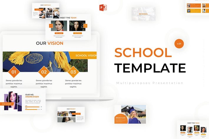 Thumbnail for School - Powerpoint Template