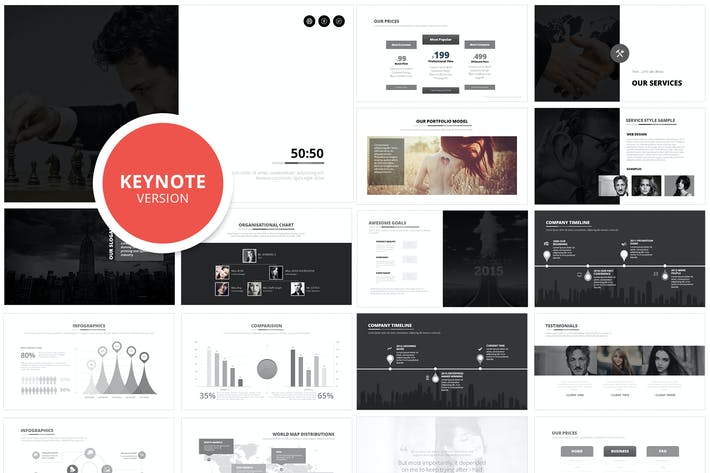 Thumbnail for 50:50 Keynote Template
